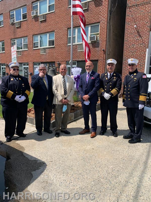 Chief Faga , Councilman Sciliano, Councilman Dionisio, Mayor Belmont, Chief Straface, Chief Mohr
