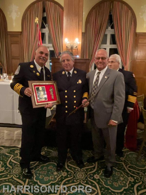 Chief Ralph Straface, Ex-Chief Peter Berendt Councilman Richard Dionisio, Chief Vito Faga